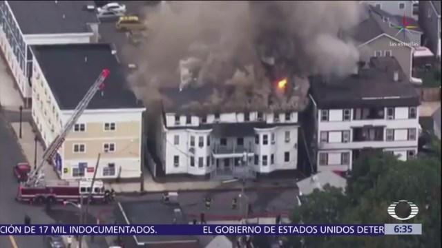 Fuga de gas afecta decenas de casas en Massachusetts