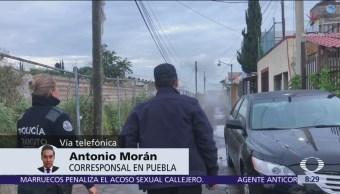 Fuga de gas LP por toma clandestina en Puebla