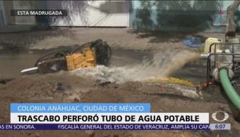 Fugas de gas y de agua afectan a la colonia Anáhuac