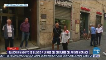 Génova rinde homenaje a víctimas del puente Morandi