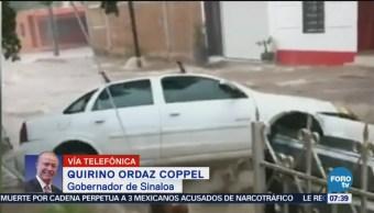 Gobierno de Sinaloa atiende a 2500 personas por inundaciones