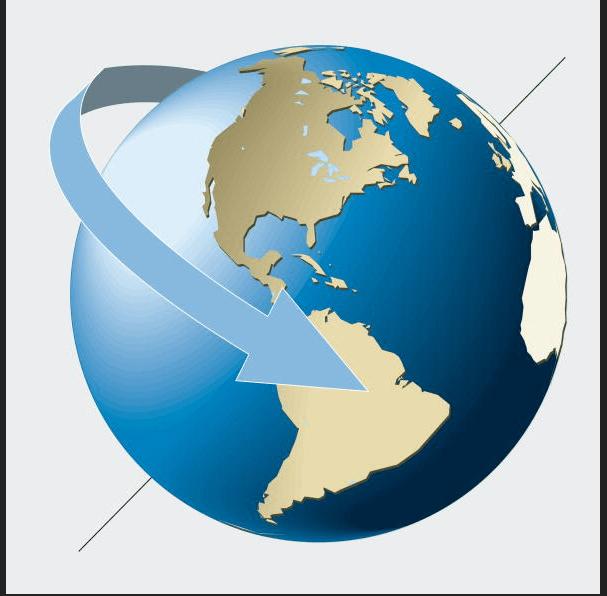 Gráfico de la rotación de la Tierra. (Getty Images)