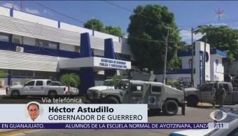 Héctor Astudillo admite penetración criminal en la Policía