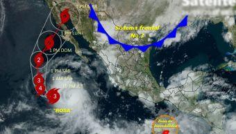Huracán Rosa sube a categoría 3; podría golpear la Península