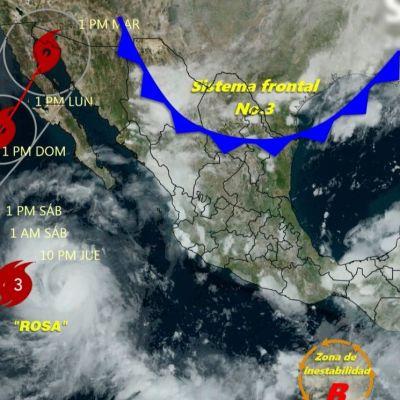 Huracán 'Rosa' sube a categoría 3; podría golpear la Península de Baja California
