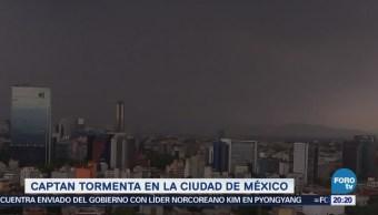 Imágenes de la tormenta de hoy en la Ciudad de México