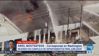 Incendio en complejo de departamentos en Washington