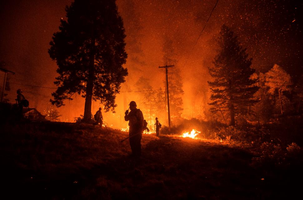Incendio forestal en California, EU. (AP)