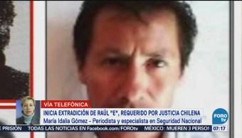 Inicia extradición de Raúl E requerido por justicia chile