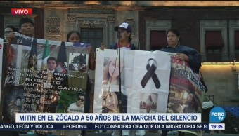 Inicia Mitin Estudiantes Marcha Zócalo Capitalino
