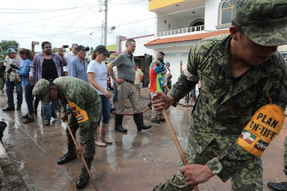 Inician labores de limpieza en los municipios afectados