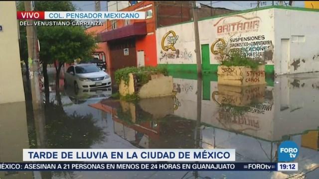 Inundación Colonia Pensador Mexicano Cdmx Lluvias