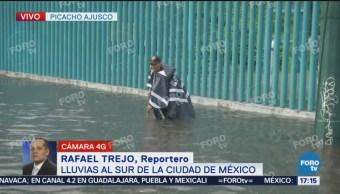 Inundaciones Avenida Picacho Ajusco, Lluvia, Sur De La CDMX, Vialidad Está Detenida, Periférico