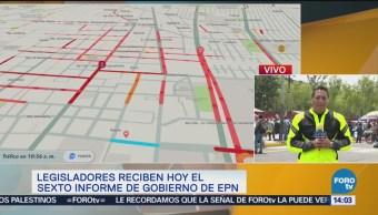 Llegan Contingentes Inmediaciones San Lázaro Grupo De Manifestantes Alrededores