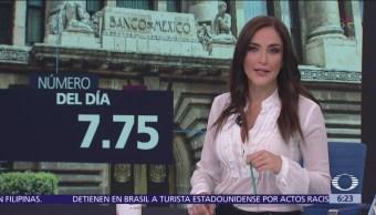 Tasa de Interés Interbancaria quedó en un nivel de 7.75