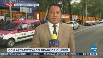 CCH Azcapotzalco Reanuda Clases 14:30 Horas Comenzaron A Llegar Los Alumnos