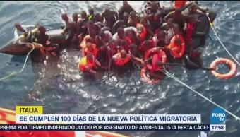 100 Días Política Migratoria Dura Italia