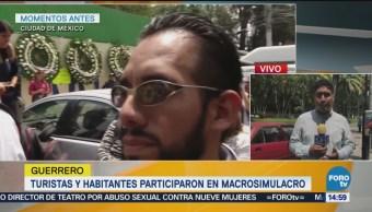 Turistas Habitantes Guerrero Participan Simulacro