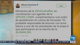 Cae Presunto Responsable Acuchillamiento UNAM