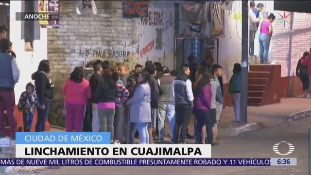 Linchan a hombre en San Mateo Tlaltenango, Cuajimalpa