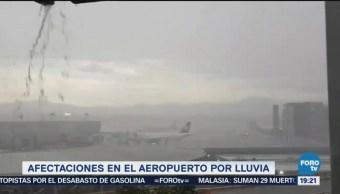 Lluvias Afectan Operaciones AICM Aeropuerto CDMX