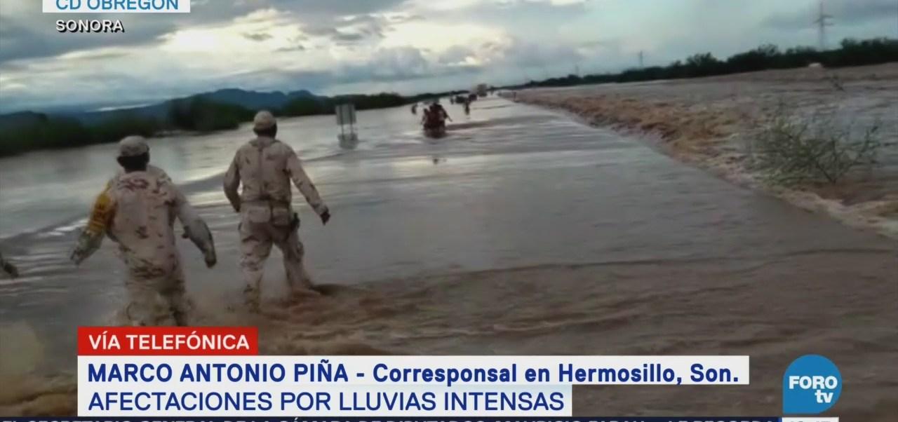 Lluvias dejan afectaciones en municipios de Sonora
