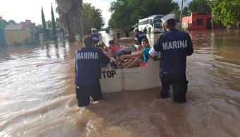 Lluvias en Sonora dejan dos muertos