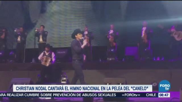 #LoEspectaculardeME: Christian Nodal cantará Himno Nacional en pelea de Canelo