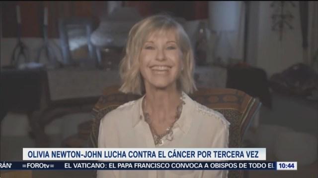 #LoEspectaculardeME: Olivia Newton John lucha contra el cáncer por tercera vez