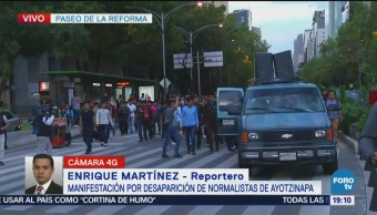 Manifestación Desaparecidos Ayotzinapa Sin Incidentes CDMX