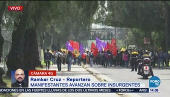 Manifestantes Avanzan Avenida Insurgentes Rumbo A Cu Edificio De Rectoría Ciudad Universitaria