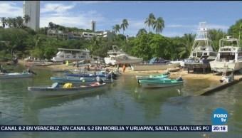 Mar de fondo afecta a pescadores en Guerrero
