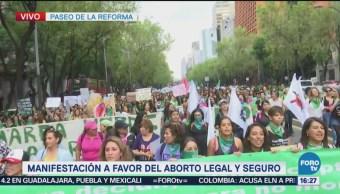 Marea Verde Llega Reforma Bucareli Marcha Favor Aborto