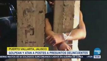 Atan Postes Presuntos Delincuentes Puerto Vallarta
