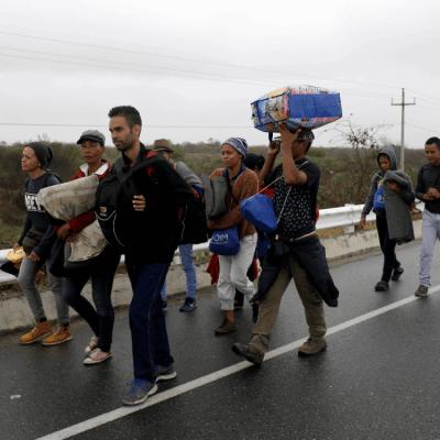 Caminantes venezolanos recorren cientos de kilómetros