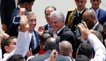 Miguel Díaz Canel AMLO López Obrador Presidente Cuba