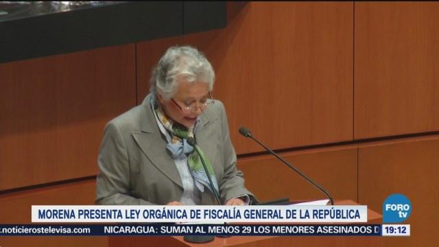 Morena Presenta Iniciativa Ley Fiscalía General República