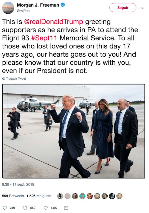 Foto viral de Donald Trump opaca la ceremonia del 9/11