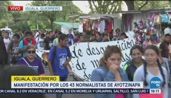 Movilización Iguala Estudiantes Ayotzinapa Desaparecidos Guerrero