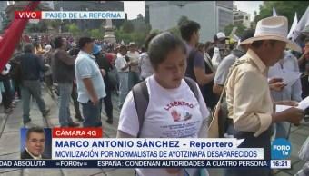 Movilización Normalistas Ayotzinapa Cdmx Marcha Manifestación