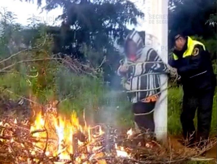 Linchamiento en Ocoyoacac; rescatan a mujer acusada de robo