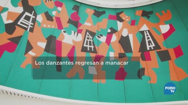 Mural 'Los Danzantes' del cine Manacar