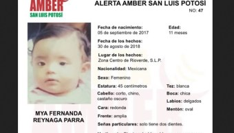 Bebé desaparecida en SLP es localizada en un lote baldío