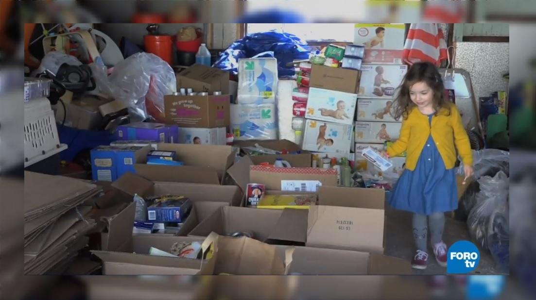 Damnificados por 'Florence' recibirán ayuda de niña en EU