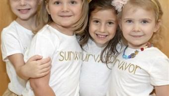 Niñas sobrevivientes de cáncer conmueven con esperanzadora sesión de fotos