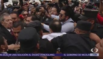 Noroña increpa a Batres y Muñoz Ledo en Palacio Nacional