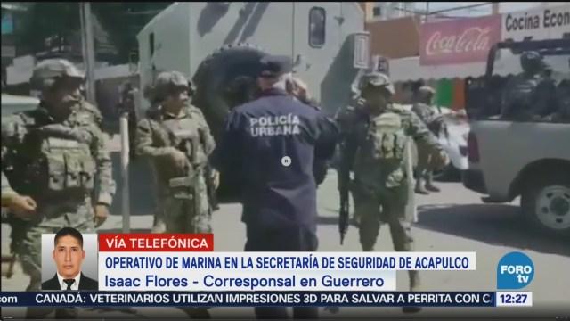 Operativo de Marina en la Secretaría de Seguridad Pública