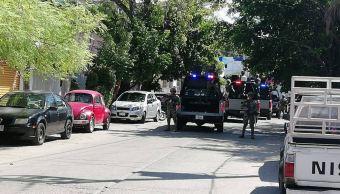 Marinos realizan operativo en la Secretaría de Seguridad Pública de Acapulco