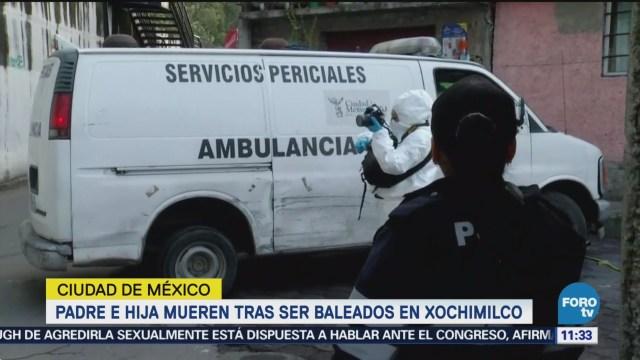 Padre e hija son baleados en Xochimilco, CDMX