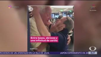 Padre se reencuentra con hijo que padece Síndrome de Down